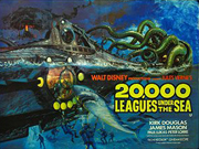 20,000 Leagues Under The Sea movie quad poster