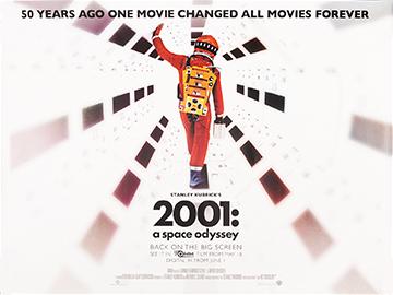 2001 - A Space Odyssey 50th anniversary movie quad poster