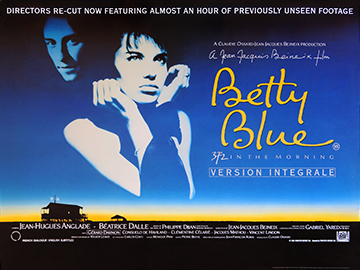 Betty Blue movie quad poster