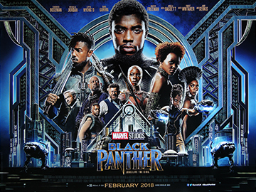 Black Panther movie quad poster