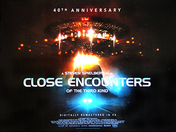 Close Encounters Of The Third Kind 40th anniversary rerelease movie quad poster