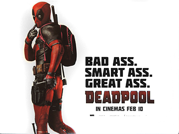 Deadpool advance movie quad poster