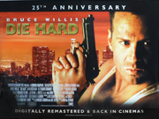 Die Hard 25th Anniversary re-release movie quad poster