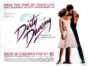 Dirty Dancing 20th anniversary movie quad poster