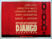Django Unchained advance movie quad poster