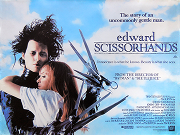 Edward Scissorhands movie quad poster