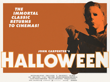 HALLOWEEN 2012 re-release movie quad poster