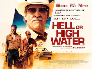 Hell Or High Water movie quad poster