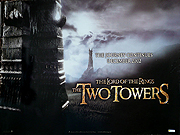 The Lord Of The Rings - The Two Towers movie quad poster