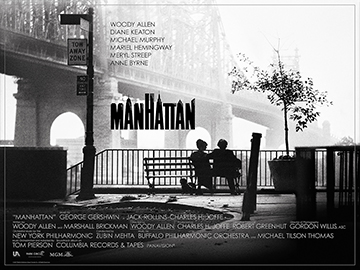 Manhatten movie quad poster