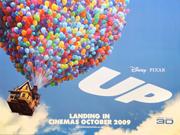 Pixar's UP movie quad poster