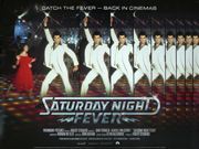 Saturday Night Fever movie quad poster