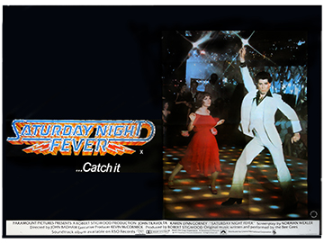 Saturgay Night Fever movie quad poster