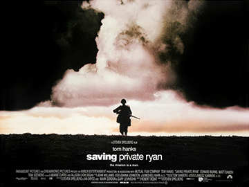 Saving Private Ryan advance movie quad poster
