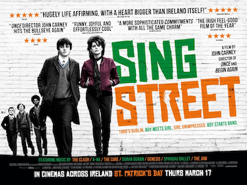 Sing Street movie quad poster