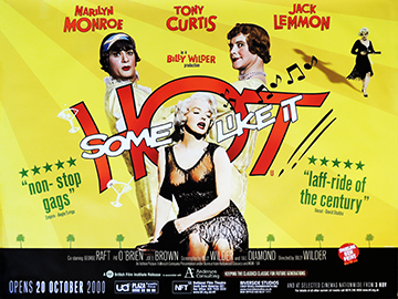 Some Like It Hot bfi re-release quad poster