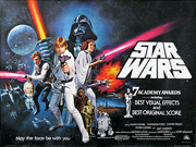 Star Wars movie quad poster