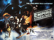 The Empire Strikes Back advance movie quad poster