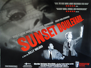 Sunset Boulevard re-release movie quad poster