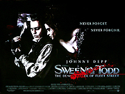 Sweeney Todd film quad poster