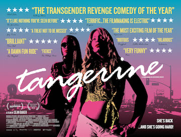 Tangerine movie quad poster