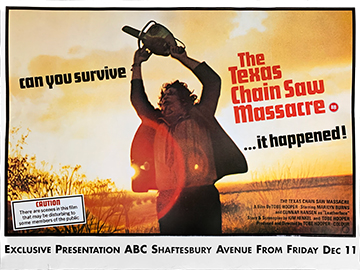 The Texas Chainsaw Massacre movie quad poster