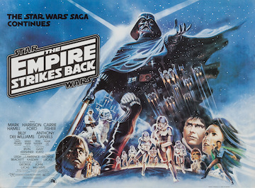 THE EMPIRE STRIKES BACK movie quad poster