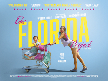 The Florida Project movie quad poster