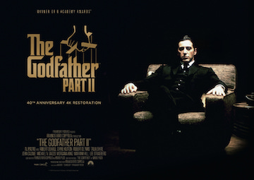 The Godfather Part 2 Park Circus 40th anniversary re-release quad poster