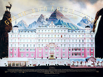 The Grand Budapest Hotel advance movie quad poster