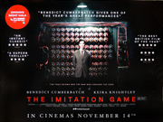 The Imitation Game advance movie quad poster