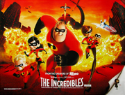 The Incredibles movie quad poster