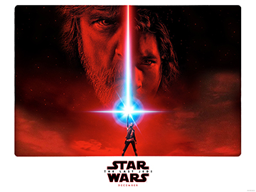 Star Wars VIII - The Last Jedi advance B movie quad poster