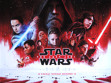 Star Wars VIII - The Last Jedi movie quad poster