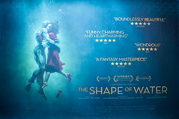 The Shape Of Water movie quad poster