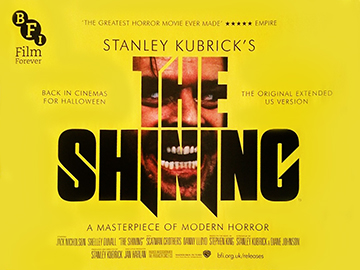 The Shining Bfi re-release movie quad poster