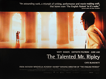 THE TALENTED MR RIPLEY movie quad poster