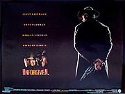 UNFORGIVEN movie quad poster