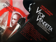 V FOR VENDETTA movie quad poster