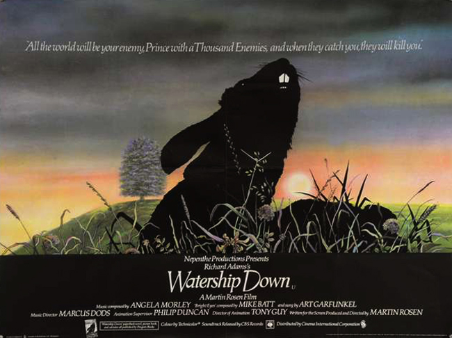 Watership Down film quad poster