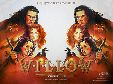Willow 70mm movie quad poster