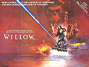 Willow movie quad poster