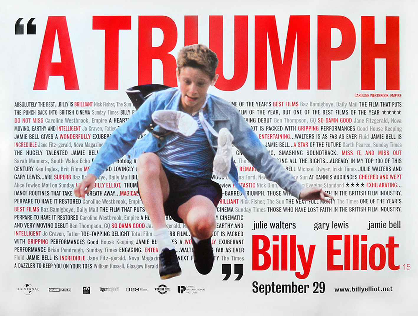 「Billy Elliot quad poster」的圖片搜尋結果